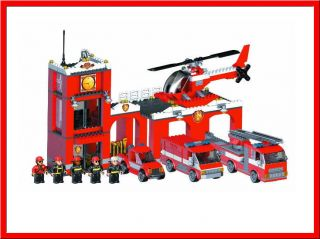 Mega Bloks 2404 Blok Squad Fire Station Patrol Set 4 Vehicles 956 Pcs