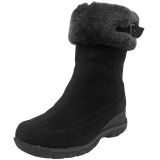 Blondo Andie Womens Black Leather Nubuck Waterproof Warm Winter Snow