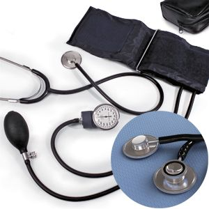 Blood Pressure Kit 1 Dual Head Stethoscope and 1 Aneroid