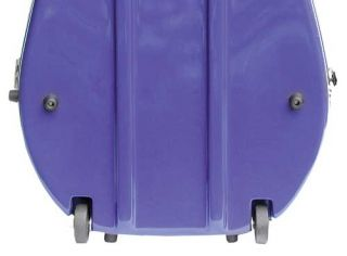Bobelock 2000W Blue Fiberglass 4/4 Cello Case   Wheels