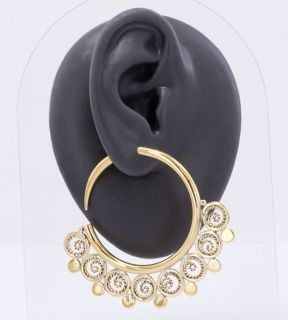 14g   4g Bronze Indonesian ISTAS Hoop Earrings   Price Per 2