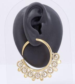 14g   4g Bronze Indonesian ISTAS Hoop Earrings   Price Per 2