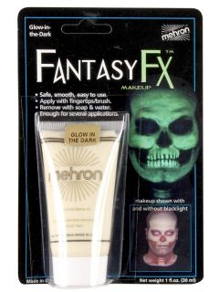 Glow in The Dark Mehron Body Paint Professional Makeup Special Effects
