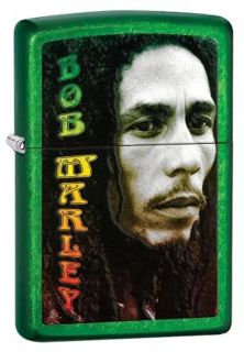 Green Bob Marley Meadows Authentic Zippo Lighter Gift