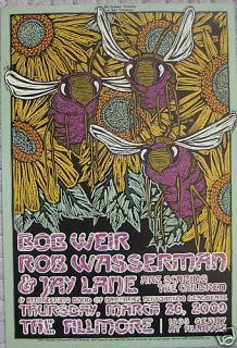 Bob Weir Grateful Dead Fillmore Poster Wasserman Original F1001 Gary