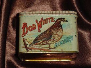 Bob White Mixture Tobacco Tin Nice One Scarce