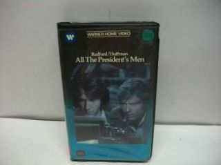 All The Presidents Men VHS Action Movie Great Flick Dustin Hoffman