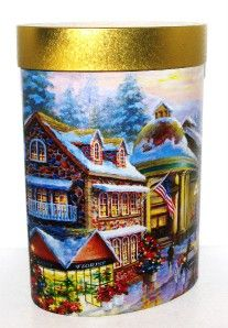 2006 Nicky Boehme Christmas Holiday Gourmet Cookie Tin Box Container