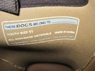 Bogs Boys Girls Kids Waterproof Insulated Boots Size 11