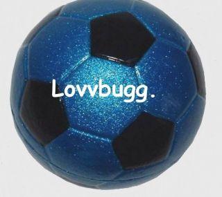 Blue Soccer Ball Mini fit American Girl Doll ACCESSORIES MAKE DOLL