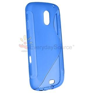 Galaxy Nexus i515 i9250 s Line TPU Cover Gel Case Blue Film