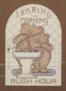 description rush hour by three needles cross stitch pattern leaflet