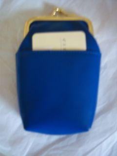 Rolfs Cobalt Blue Leather Cigarette Case