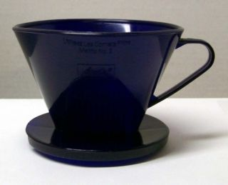 No 2 Cone Filter Cup Coffee Maker COBALT BLUE FREE Shipping USA Canada