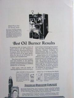 1927 American Radiator Boiler Arco Heater Asbestos Ad