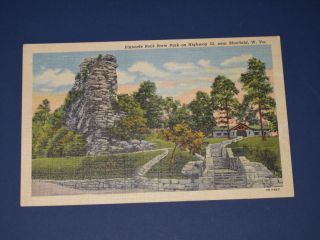 Postcard Pinnacle Rock State Park Bluefield West Virginia 1950s