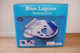 BLUE LAGOON Floating Island Raft Inflatable Water Pool Lake Tube NIB