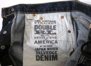 RRL Icon SSNL Vintage Straight Blue Rapids Selvedge Jeans 29