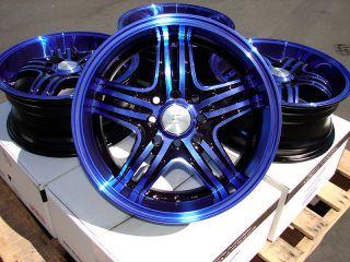 15x6 5 Blue Wheels Rim Civic Prelude Miata Corolla Honda Accord