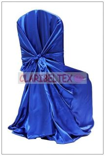 New Wedding Party Satin Universal Self Tie Chair Cover for