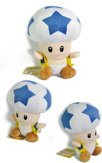 Blue Star Toad 7 Super Mario Bros Plush Toy Doll M99