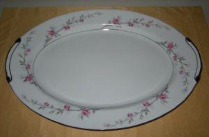 Valmont China Debonaire Roses LG Oval Serving Platter
