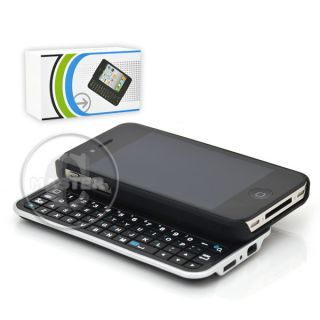 Compact Bluetooth HID Wireless QWERTY Keyboard Slider Case iPhone 4 4S