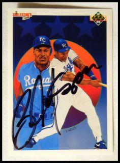 Bo Jackson Kansas City Royals Baseball Autographed Upper Deck Card