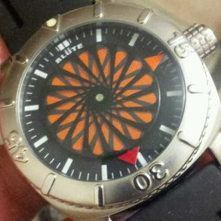 HUGE BLUTE BOREL ROTARY DISC HANDS AUTO MEN WATCH PAM CASE MINTY $1 NR