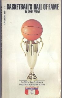 of Fame 1973 Naismith Bob Cousy George Mikan Vintage PB Book