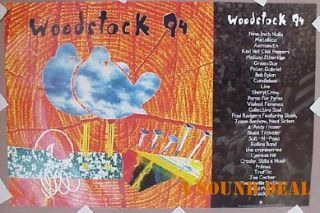 Woodstock Poster NIN Bob Dylan Green Day Blind Melon94