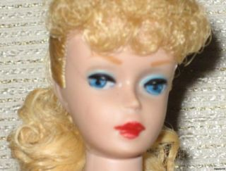 Vintage 1961 #5 Lemon Blonde Ponytail Barbie Doll with Original Zebra