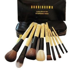 BOBBI BROWN Luxury Makeup Brush Set Cosmetic Gift 10pcs Essentials For