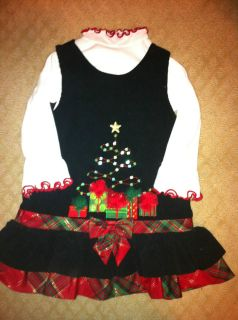 BONNIE BABY holiday christmas xmas dress toddler infant girl size 24