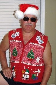 Bobbie Brooks Ugly Christmas Sweater Vest (XL) GOOFY SNOWMEN