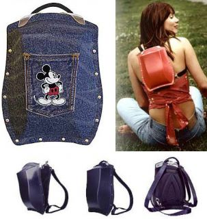 Boblbee Scarabee Disney Mickey Mouse Blue Denim Purse