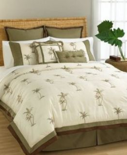 Victoria Classics Boca Raton Palm Trees Tropical KING Comforter Set