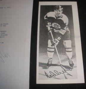 Bobby Orr Vintage Autograph on Letter to Fan on Boston Bruins Letter