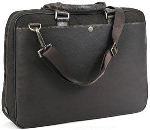 Boconi Hendrix Leather Laptop Zipster Business Case Briefcase 211 2301
