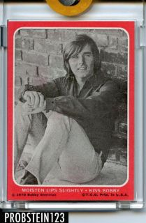 1970 Topps Bobby Sherman Kiss Test Photo Card Mint