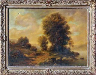 Paul Wesley Large Signed Original Oil Landscape 28x38