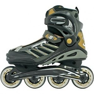 Roller Derby Mens Hybrid G800 Black Grey and Yellow Inline Skates