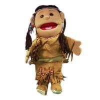 PROFESSIONAL PRO MINISTRY FULL BODY GLOVE HAND PUPPETS AMERICAN INDIAN