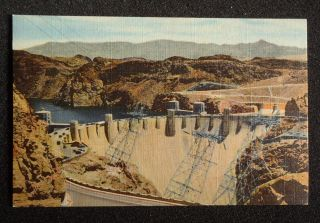 Dam Union Pacific Railroad Boulder City NV Clark Co Postcard Nevada