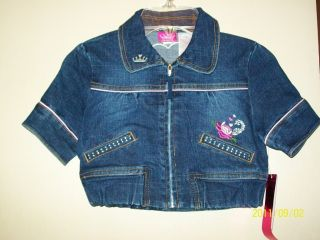 Disney Princess Girls Embellished Denim Jean Jacket 6X