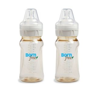 features of born free twin pack classic bottle 9 ounce baby controls