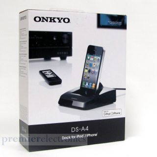 A4 Docking Station Compatible with iPod iPhone Remote Control