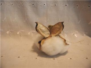 Handmade Primitive Raw Cotton Boll Christmas Angel Ornaments