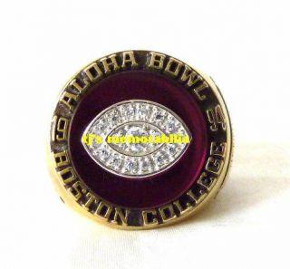 1994 Boston College Eagles Aloha Bowl Championship Ring