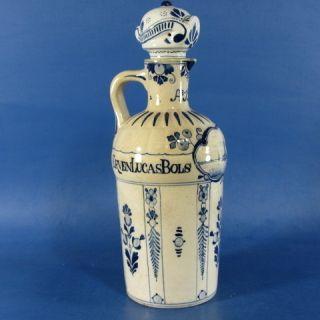 E833 Antique Delft Blue Bols Bottle Jar Porceleyne Fles